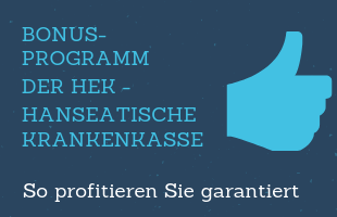 Bonusprogramm der HEK Hanseatische Krankenkasse